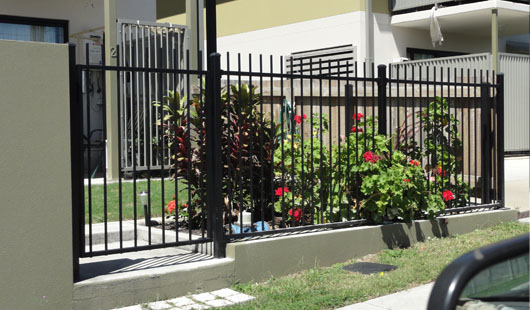 Powder coated aluminium panel fencing northbriz